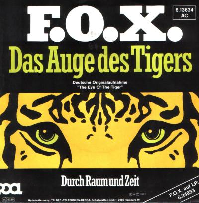 F.O.X. 'Das Auge des Tigers' - Single von Christoph Rinnert, früher