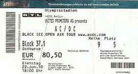 22. Juni 2010 AC/DC Black Ice Tour