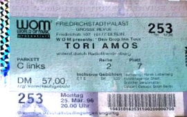 25. März 1996 Tori Amos Dew Drop Inn Tour '96
