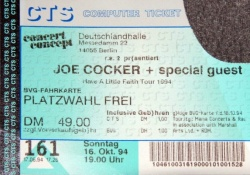 16. Oktober 1994 Joe CockerHave A Little Faith Tour 1994