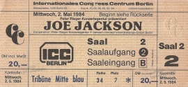 2. Mai 1984 Joe JacksonBody And Soul Tour 1983/84