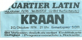 Ticket vom 20. Oktober Quelle: Privatarchiv Manfred Weiss