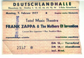 7. Februar 1977 Frank Zappa und The Mothers Of Invention